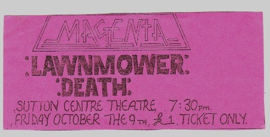 advert for october 9th 1987 show